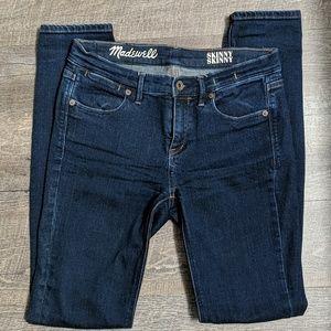 Madewell LONG Skinny Skinny Jeans, size 27